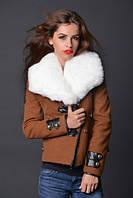 Пальто женское кашемировое с мехом 6172, фото 1
