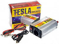 Преобразователь напряжения TESLA(PULSO)  12V-220V/300W/USB-5VDC0.5A/мод.волна/прикур/клеммы (ПН-22300)