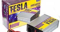 Преобразователь напряжения TESLA(PULSO)  12V-220V/800W/USB-5VDC0.5A/мод.волна/клеммы (ПН-22800) (Vitol)