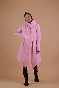 Розовая женская мантия на флисе 42-48, 50-54