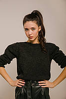 Женский темно-серый свитер S-M, L-XL
