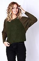 Джемпер женский оливкового цвета р42-46 (код7551-00)