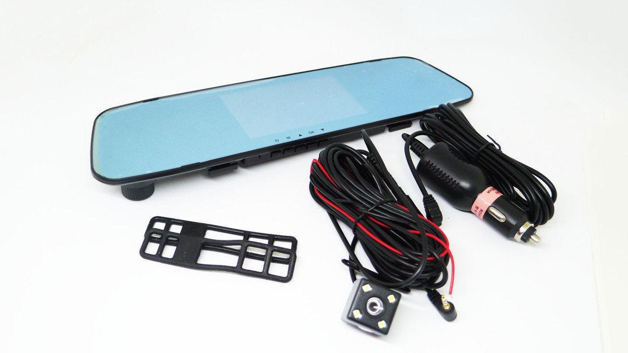 """Зеркало видеорегистратор DVR L505 2 камеры экран 5"""" сенсорный"""