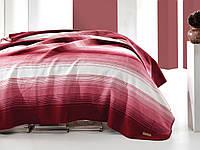 "Турецкий хлопковый плед "" Marie Claire Paris""  200х220см Gill-red"