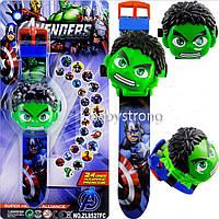 Проекционные детские часы Халк / Hulk - 24 вида изображения героев .Projector Watch. Отличный Подарок !