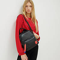 Рюкзак  женский кожаный черный