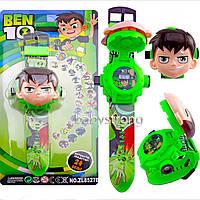 Проекционные детские часы Бен 10 - Ben 10 - 24 вида изображения героев .Projector Watch. Отличный Подарок !