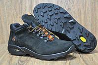 Зимние мужские ботинки натуральный нубук и натуральный мех в стиле Jordan