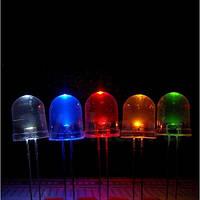 Упаковка цветных светодиодов 250шт 10мм RGB переключающиеся пять цветов