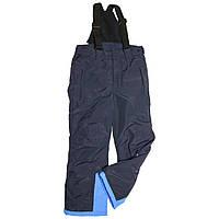 Детский зимний полукомбинезон термо-штаны 140 рост синие
