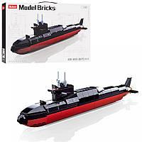 Конструктор SLUBAN M38-B0703 (16шт) подводная лодка, 1:450,  35см, 269дет, в кор-ке, 38-24-7см