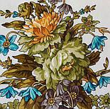 10876-0 (Піони), павлопосадский хустку з віскози з подрубкой, фото 4