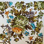 10876-0 (Пионы), павлопосадский платок из вискозы с подрубкой, фото 6