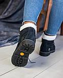 Зимние женские ботинки T1mberland 6 inch синие с натуральной овчиной 36-40р. Реплика, фото 3