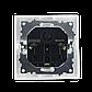 """Розетка одинарная встроенная белая с заземлением и двумя USB серия  """"ЭЛЕГАНТ"""", фото 4"""