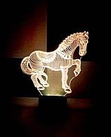 3d-светильник Лошадь, лошадка, 3д-ночник, несколько подсветок (на пульте)