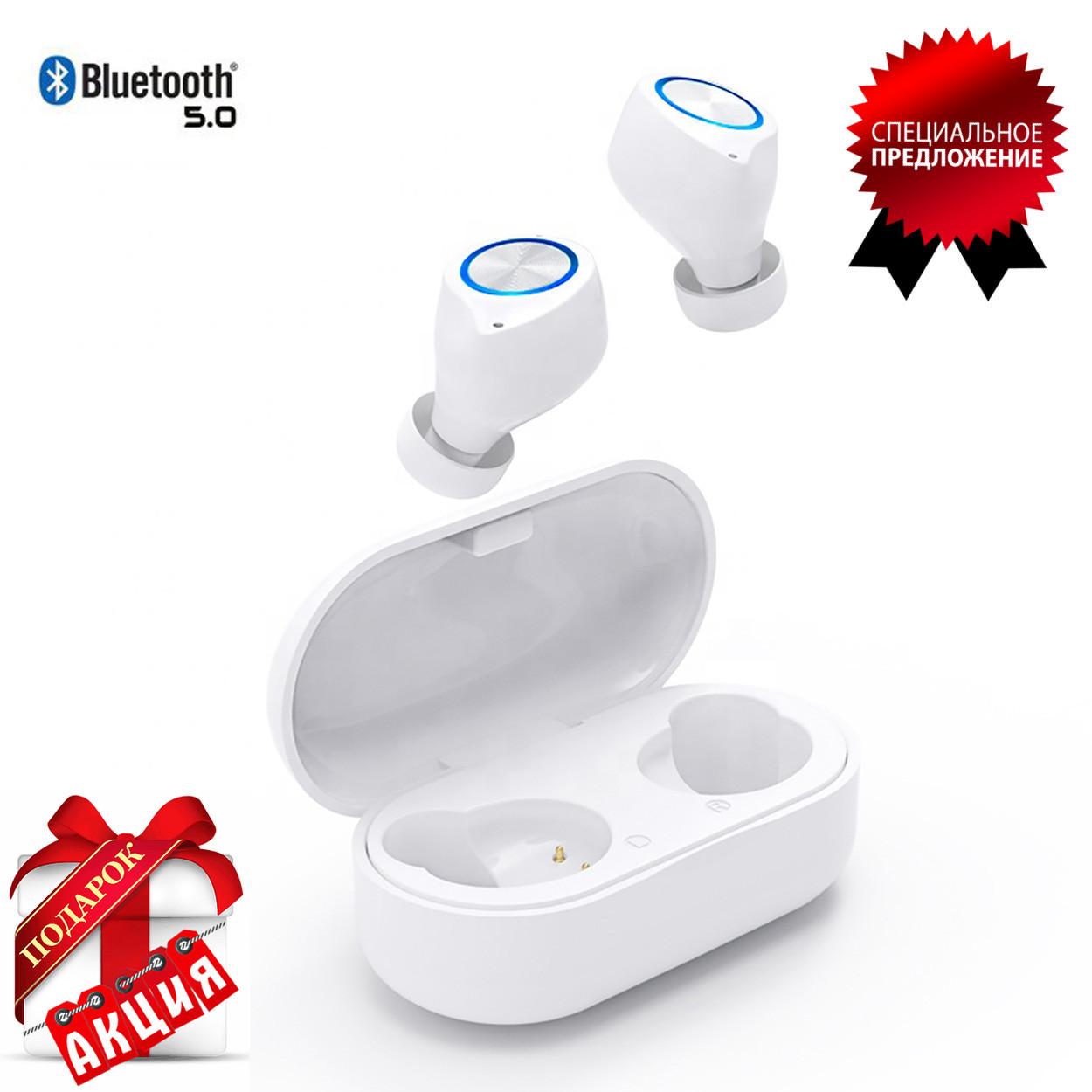 Беспроводные наушники блютуз гарнитура Bluetooth наушники 5.0 Wi-pods TW60. Белые