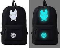 Светящийся городской рюкзак с usb зарядкой + замок (Железный человек)