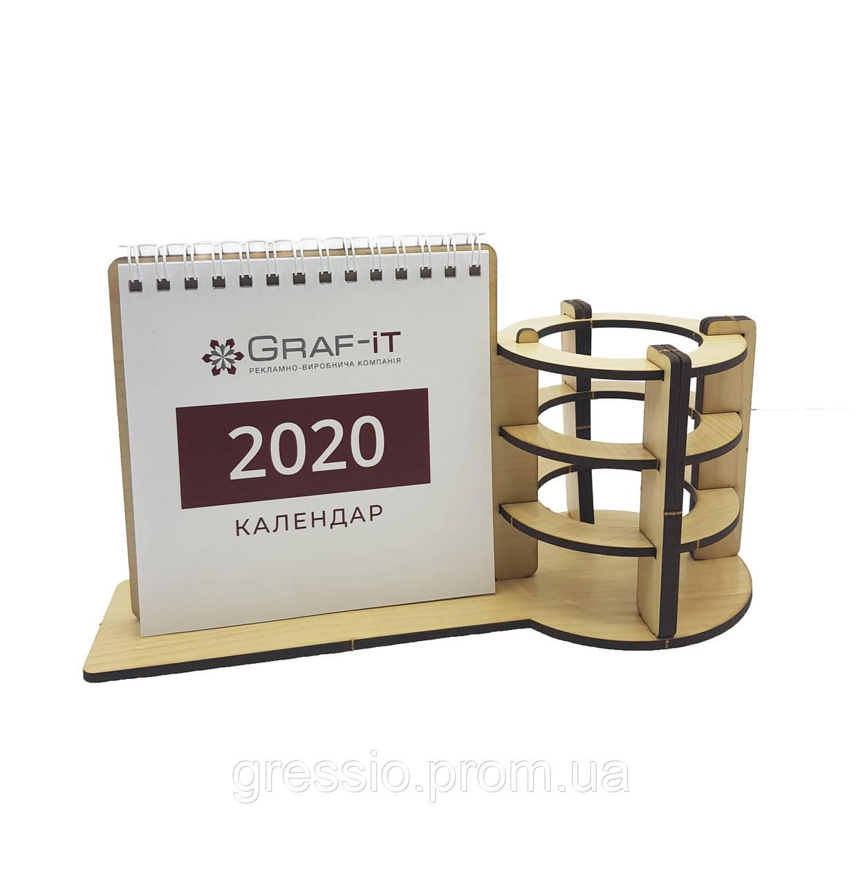 Календарь с круглой подставкой под канцтовары