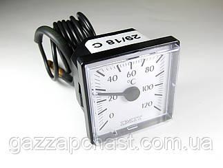 Термометр квадратный капиллярный 45х45 мм, 0-120ºС, IMIT - Италия, 042121