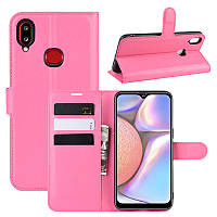 Чехол Luxury для Samsung Galaxy A10s (A107) книжка розовый