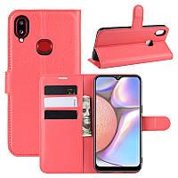 Чехол Luxury для Samsung Galaxy A10s (A107) книжка красный