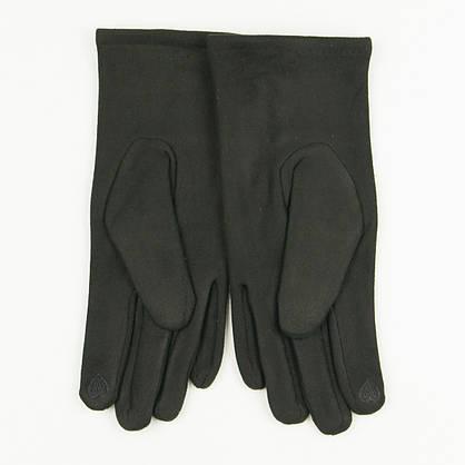 Женские перчатки из искусственной замши № 19-1-34-4 черный S, фото 3