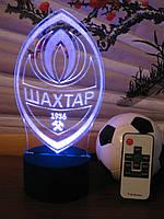 3d-светильник ФК Шахтер (Шахтар), 3д-ночник, несколько подсветок (на пульте)