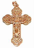 Крестик фирмы TSATSA, позолота с красным оттенком. Высота крестика: 4,5 см. Ширина 25 мм