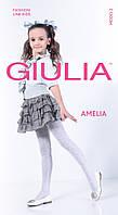 Колготки для девочек с выбитым рисунком AMELIA 40 den