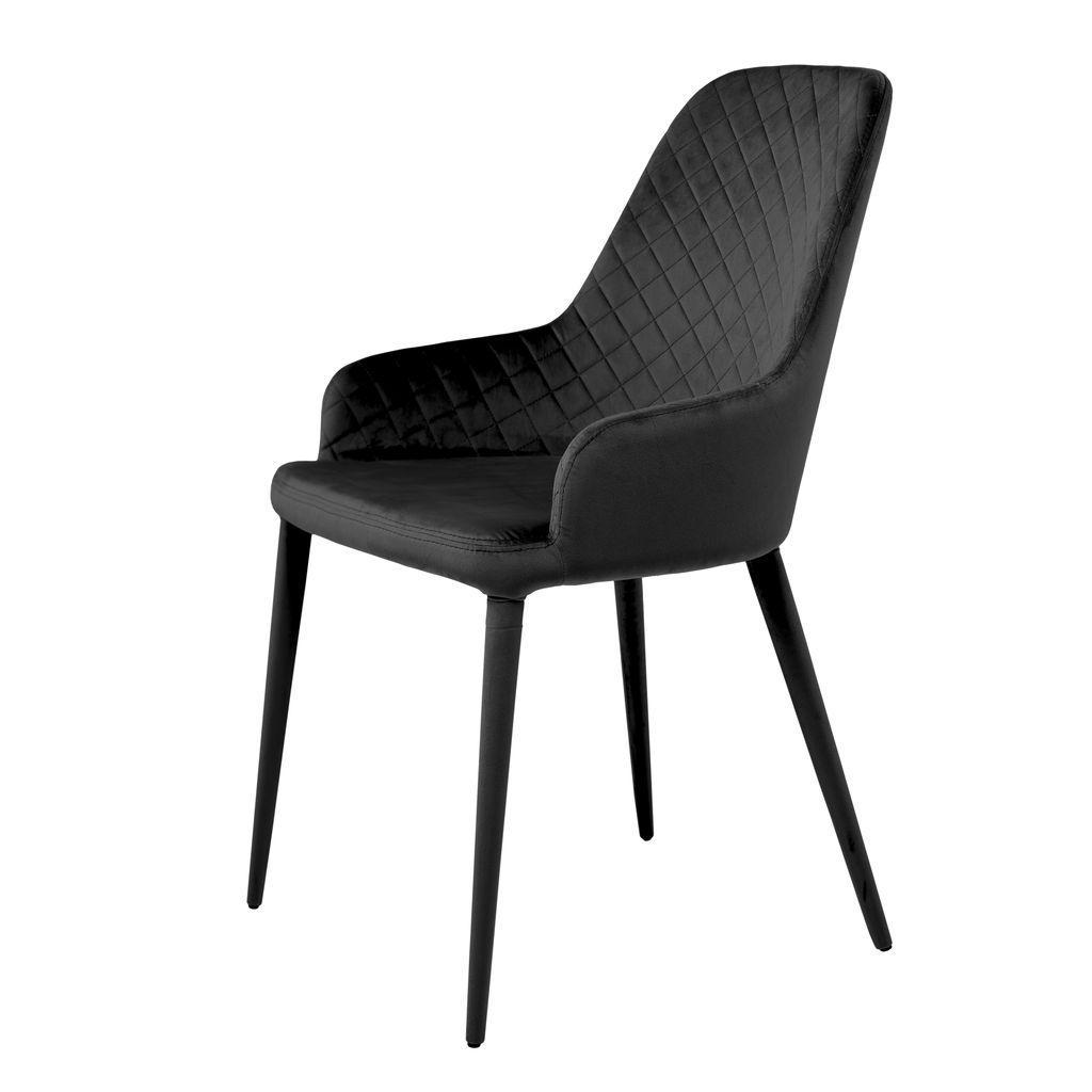 Обеденный стул ELIZABETH (Элизабет) черный велюр от Concepto