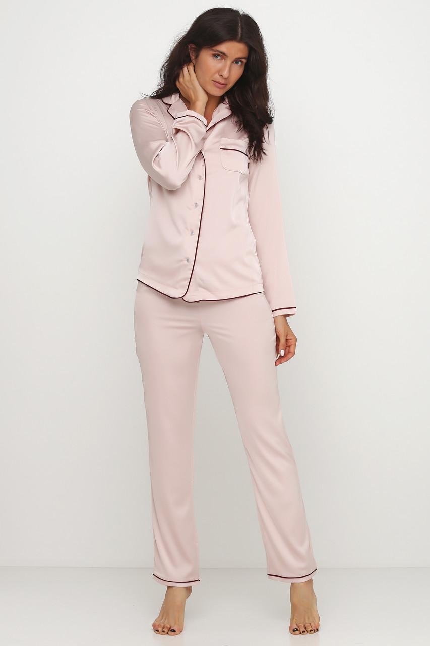 Женская нежная шелковая пижама