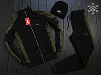 ВЫГОДНО! Спортивный костюм зимний мужской в стиле Puma black-khaki / ЛЮКС качество, фото 1