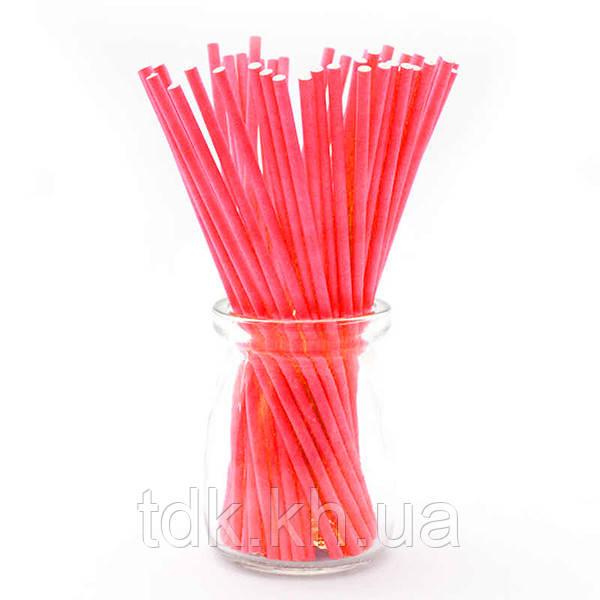 Палочки для кейк-попсов Красные 50шт