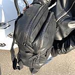 Мужской кожаный рюкзак черный, фото 3