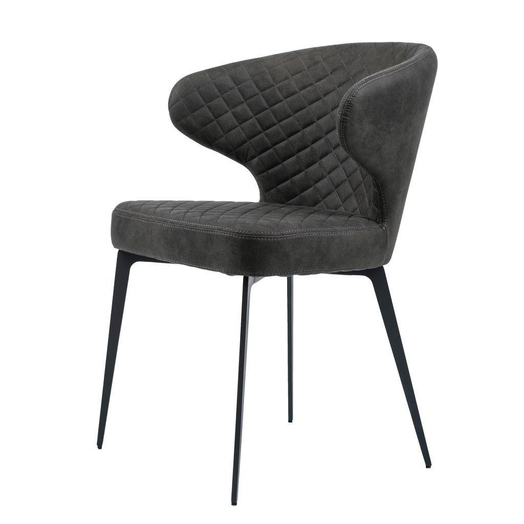 Обеденный стул KEEN (Кин) нефтяной серый в ткани от Concepto