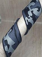Пришивная резинка 40 мм серый камуфляж