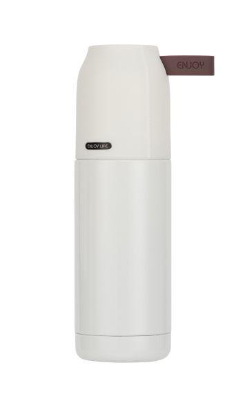 Термос с кружкой 350 мл «SMILE» STT-8, белый (Польша)