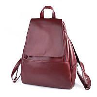 Бордовый рюкзак М104-75 городской молодежный вместительный А4, фото 1