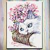 """Картины по номерам, холст на подрамнике, Животные """"Нежность утра 2"""", 40х50 см, без коробки"""