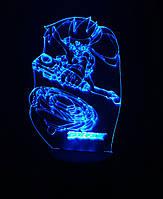 3d-светильник Бейблэйд, BeyBlade, 3д-ночник, несколько подсветок (на батарейке)