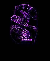 3d-светильник Бейблэйд, BeyBlade, 3д-ночник, несколько подсветок (батарейка+220В)