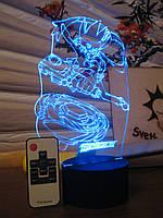 3d-светильник Бейблэйд, BeyBlade, 3д-ночник, несколько подсветок (на пульте)
