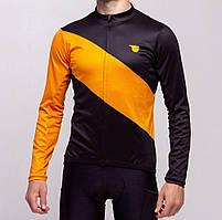 Джерси Pride Adventure warm, с длин. рукавом, утепленная, мужская, черно-оранжевая