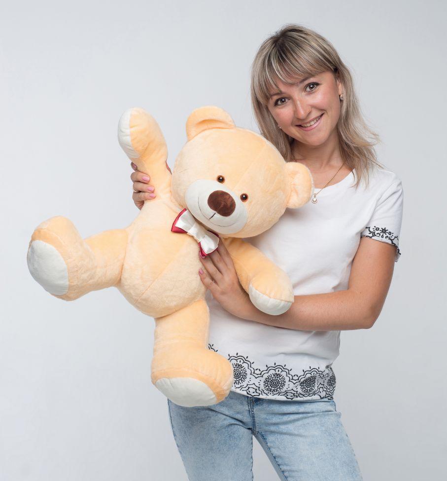 Mini  Medved сидячий бежевый  (70 см)