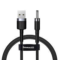 Кабель USB Baseus Cafule to DC 3.5mm 2A 1m, Gray+Black (CADKLF-G1)
