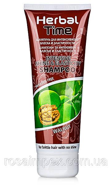Шампунь для интенсивного блеска и эластичности для ломких и тусклых волос Орех