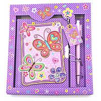 Блокнот дневник для девочек с замком Бабочки