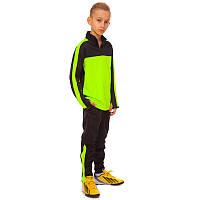 Костюм спортивный детский (в наличии есть только размер 32 на рост 145-155 см, черно-салатовый)