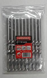 Спиральные сверла по металлу HAISSER DIN 338 7,0х69х109 мм  ц/х 10 шт